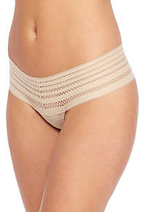 Classic Cotton Wide Lace Thong