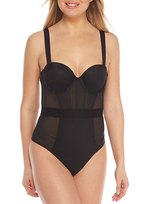 DKNY Sheer Strapless Bodysuit