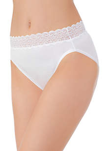 Flattering Lace Cotton Stretch HiCut Brief - 13395