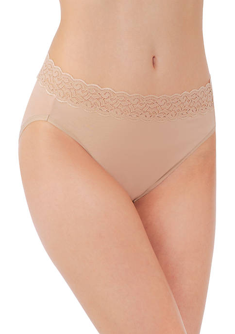 Vanity Fair® Flattering Lace Cotton Stretch HiCut Brief