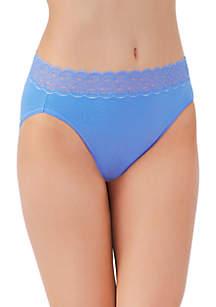Flattering Lace Cotton Stretch HiCut Brief - 13395