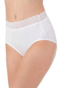 Flattering Lace Cotton Stretch Brief - 13396