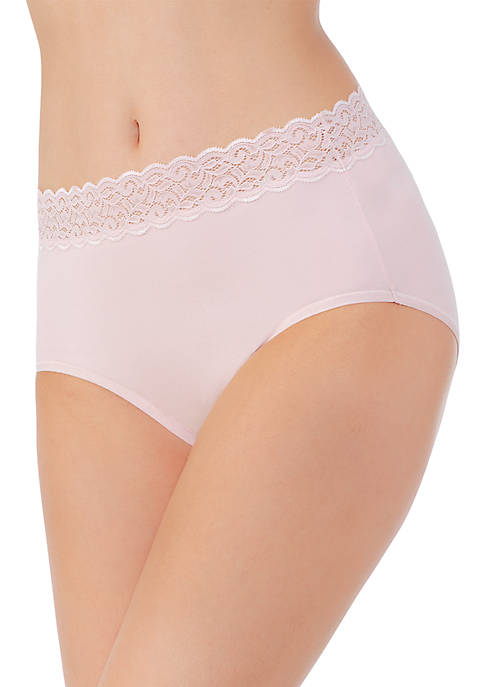 Vanity Fair® Flattering Lace Cotton Stretch Brief