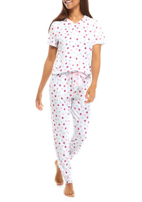 Dotted 2 Piece Pajama Set