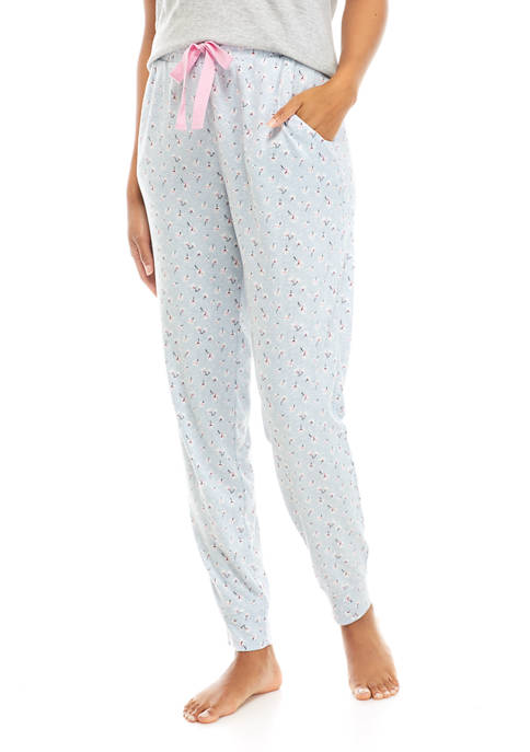 Jaclyn Intimates Rainfall Impression Printed Jogger Pants