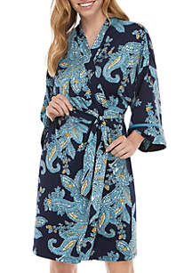 New Directions® Paisley Wrapper Robe