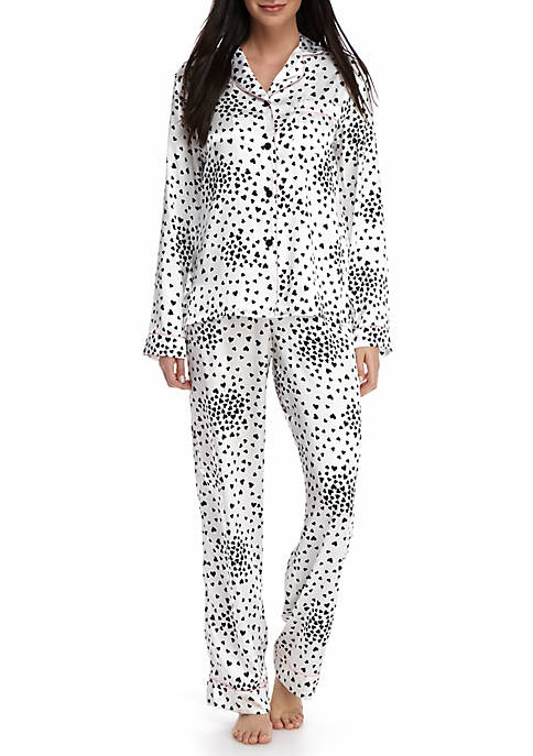 Party Heart Satin Notch Pajama Set