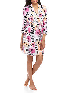 New Directions® White Floral Wrap