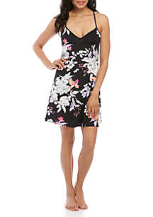 New Directions® Black Floral Chemise