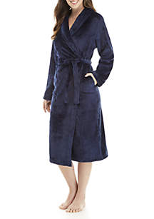 French Fleece Wrap Robe