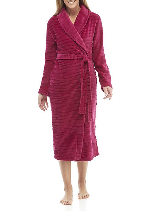 Kim Rogers® Wave Textured Wrap Robe