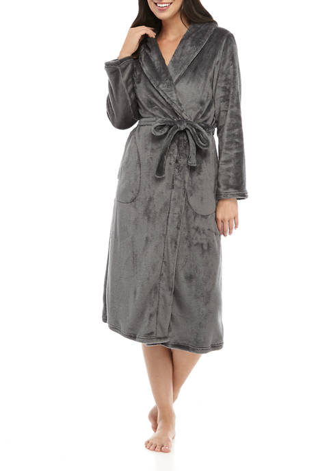 Kim Rogers® French Fleece Wrap Robe