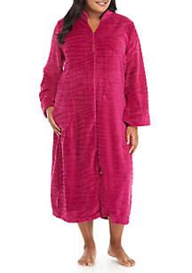 Plus Size Zip Wave Robe