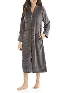 Wave Pattern Zip Robe