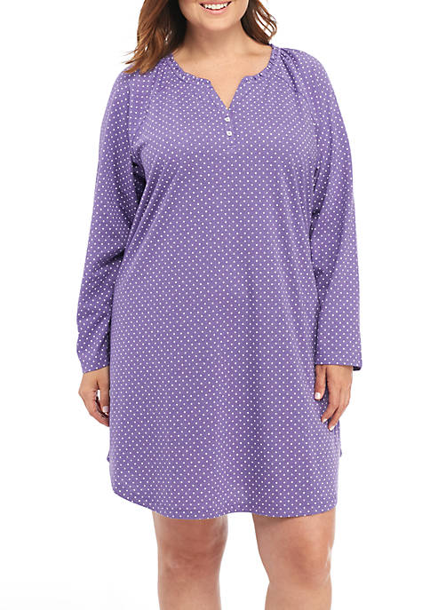 Karen Neuburger Plus Size Long Sleeve Sleepshirt