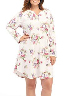 Plus Size Long Sleeve Sleepshirt