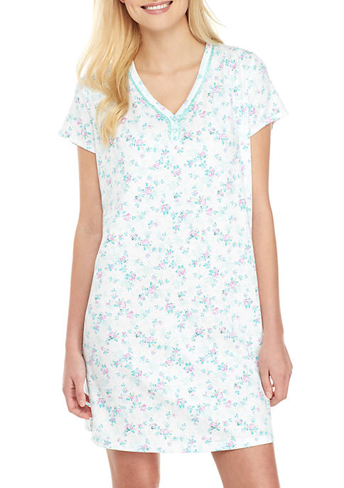 Karen Neuburger Short Sleeve Sleep Shirt