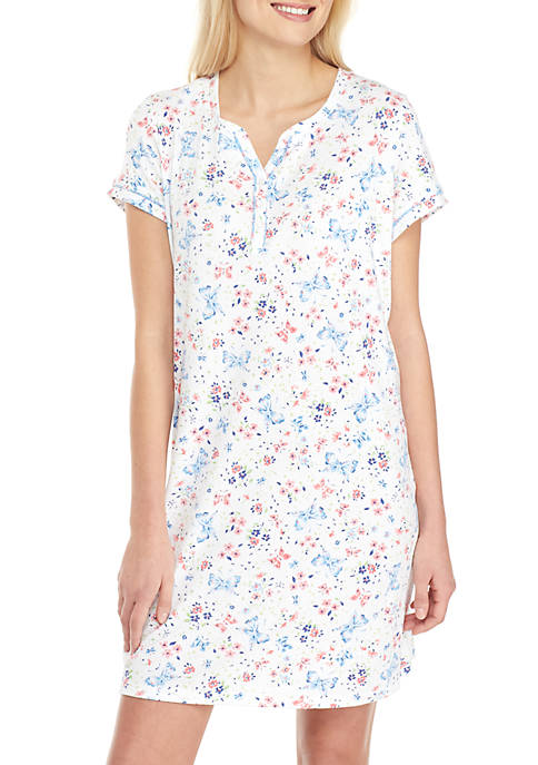 Karen Neuburger Short Sleeve Printed Sleep Shirt