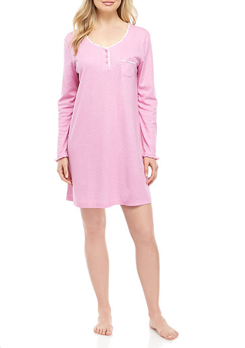 Karen Neuburger Long Sleeve Night Shirt