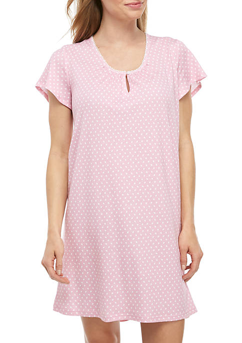 Karen Neuburger Short Sleeve Night Shirt