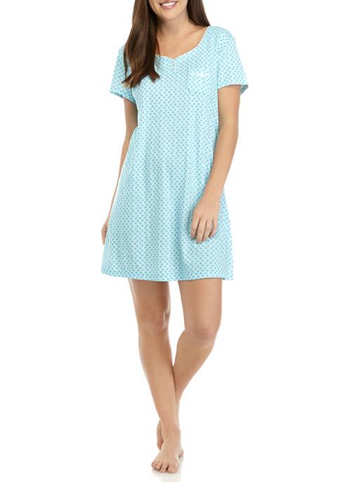 Karen Neuburger Short Sleeve Nightshirt