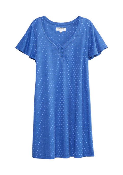 Karen Neuburger Short Sleeve Night Shirt