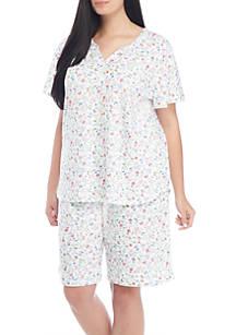 f9f5ad7927 Karen Neuburger. Karen Neuburger 2-Piece Short Sleeve Bermuda Pajama Set