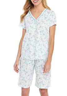 77b0ece993 Karen Neuburger. Karen Neuburger 2-Piece Short Sleeve Bermuda Short Pajama  Set