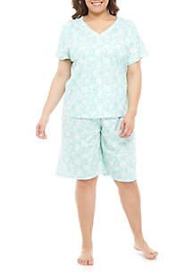 Karen Neuburger Plus Size Combo Bermuda Pajama Set