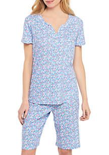 727f0aa488 Karen Neuburger 2-Piece Short Sleeve Bermuda Short Pajama Set
