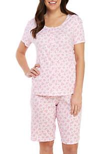 Karen Neuburger 2 Piece Short Sleeve Bermuda Pajama Set
