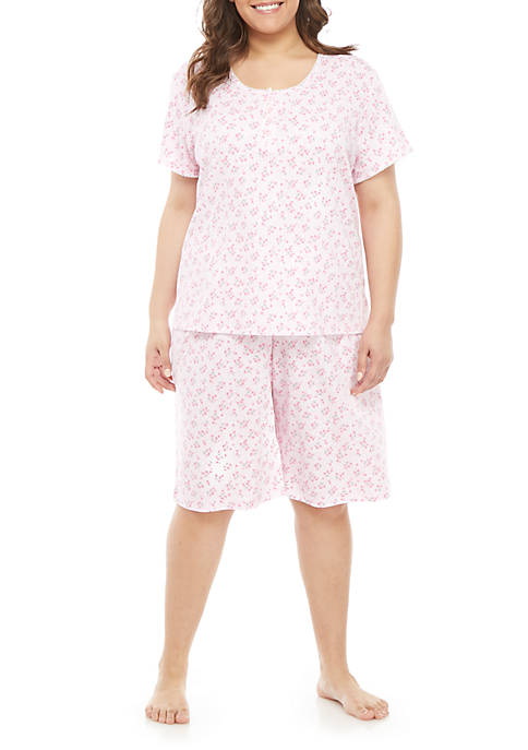 Plus Size Bermuda Short Pajama Set