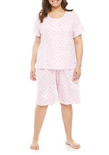Karen Neuburger Plus Size Bermuda Short Pajama Set