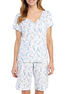 Karen Neuburger 2 Piece Bermuda Pajama Set