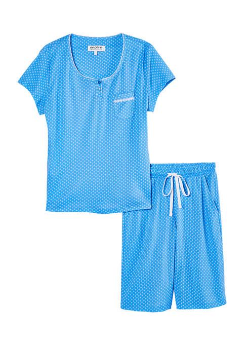 Karen Neuburger Short Sleeve Bermuda Shorts Pajama Set