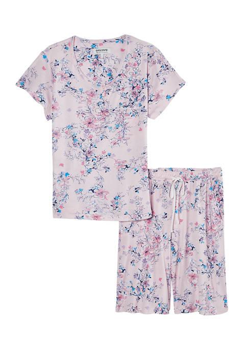 Short Sleeve Bermuda Shorts Pajama Set