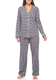 2-Piece Long Sleeve Girlfriend Pajamas