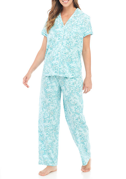 Karen Neuburger 2--Piece Short Sleeve Girlfriend Pajama Set