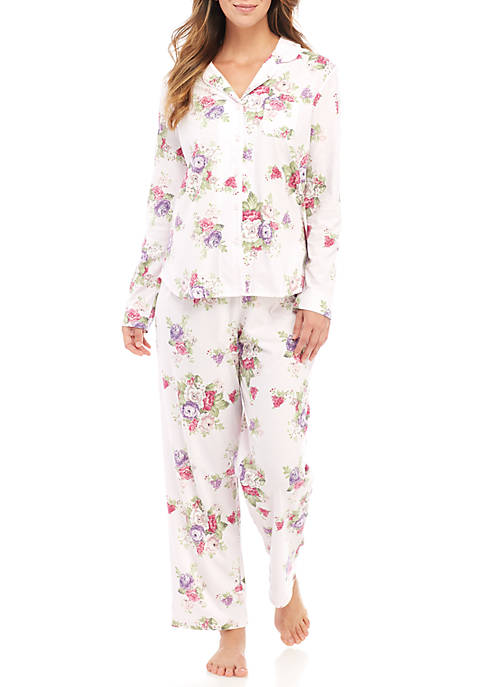 Karen Neuburger 2-Piece Long Sleeve Girlfriend Pajama Set