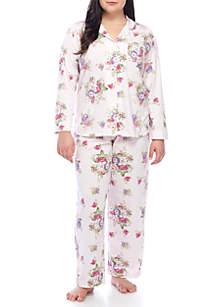 Plus Size 2-Piece Long Sleeve Girlfriend Pajama Set