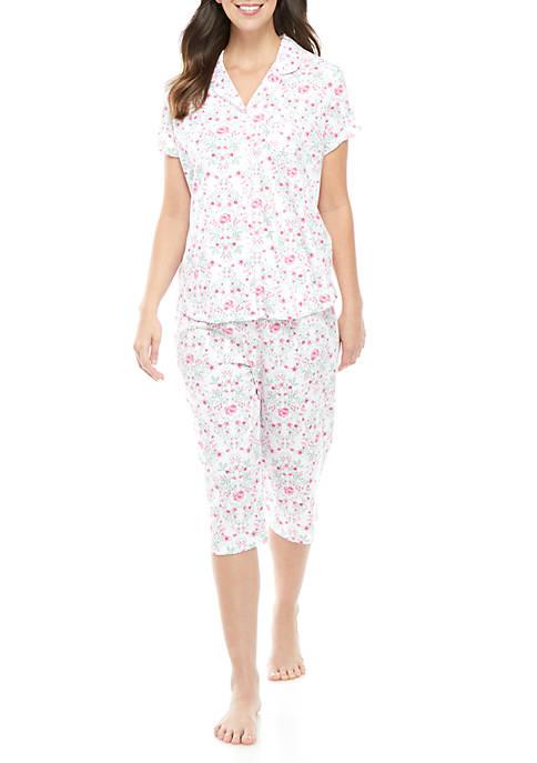 Karen Neuburger 2 Piece Girlfriend Capri Pajama Set