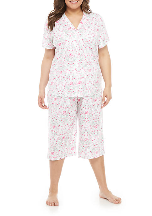 Plus Size Girlfriend Capri Pajama Set