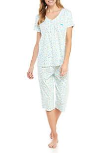 Karen Neuburger 2 Piece Capri Pajama Set