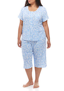 Karen Neuburger Plus Size 2 Piece Capri Pajama Set