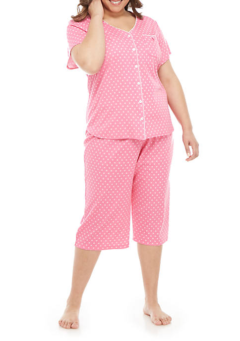 Karen Neuburger Plus Size Cardi Capri Pajama Set
