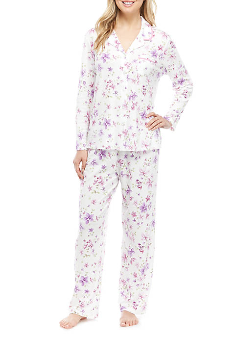 Karen Neuburger 2 Piece Long Sleeve Girlfriend Pajamas
