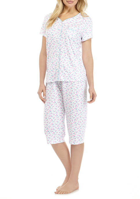Karen Neuburger Short Sleeve Capri Pajama Set