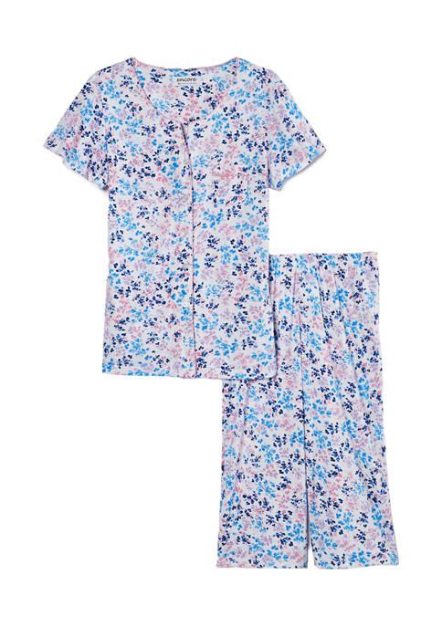 Karen Neuburger Short Sleeve Top and Capri Pajama