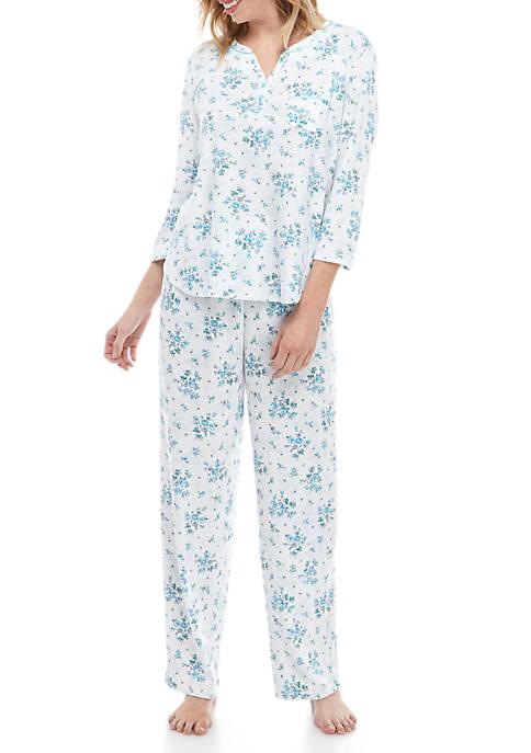 Karen Neuburger 2 Piece Henley Pajama Set