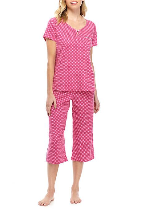 2 Piece Top and Capri Pajama Set